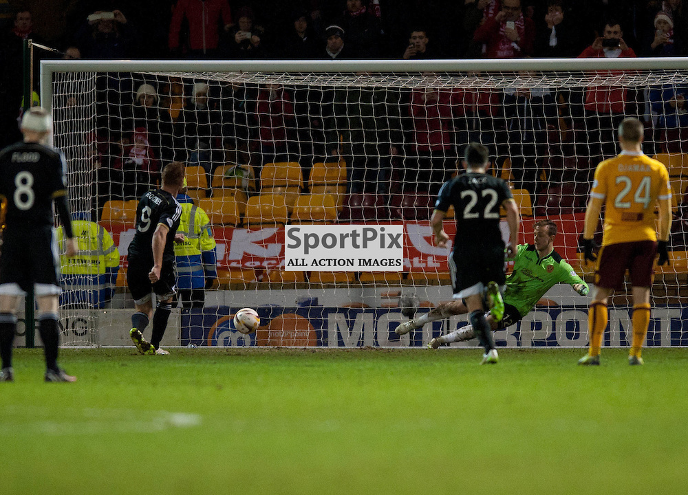 Adam Rooney scores from the penalty spot<br /> .....(c) Angie Isac | SportPix.org.uk