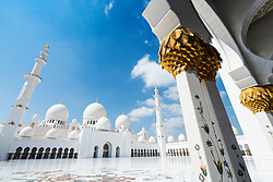 Courtyard of Sheikh Zayed Grand Mosque in Abu Dhabi United Arab Emirates