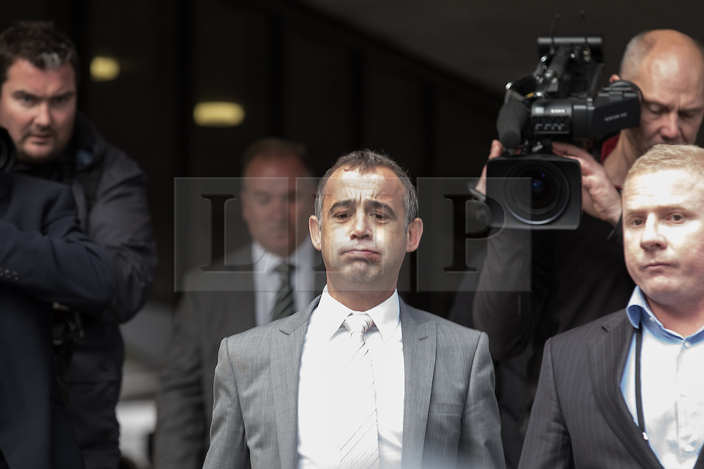 © Licensed to London News Pictures . 10/09/2013 . Manchester , UK . MICHAEL LE VELL (aka Michael Turner ) leaves Manchester Crown Court this afternoon (Tuesday 10th September 2013) after being cleared of all charges . The actor , who plays mechanic Kevin Webster in Coronation Street , was charged with a series of offences including rape , sexual activity with a child and indecent assault . Photo credit : Joel Goodman/LNP