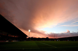 A dramatic sky over the Pirelli Stadium as Burton Albion take on Birmingham City in The Sky Bet Championship - Mandatory by-line: Robbie Stephenson/JMP - 18/08/2017 - FOOTBALL - Pirelli Stadium - Burton upon Trent, England - Burton Albion v Birmingham City - Sky Bet Championship