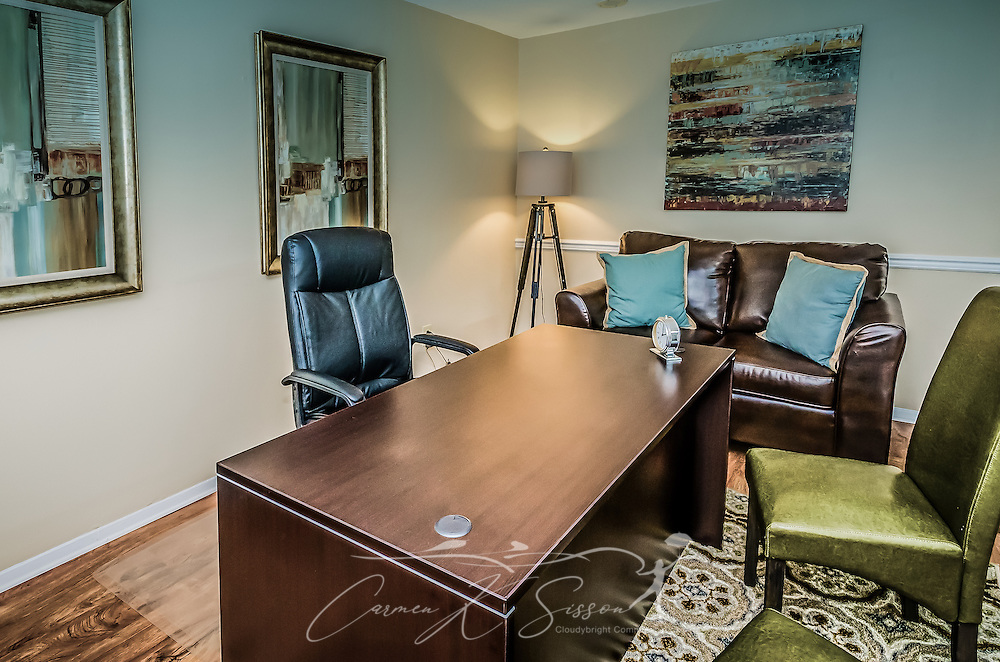 The leasing office is shown at Robinwood Apartments, June 11, 2015, in Mobile, Alabama. The one-bedroom apartments, located on Old Shell Road, are managed by Sealy Realty. (Photo by Carmen K. Sisson/Cloudybright)