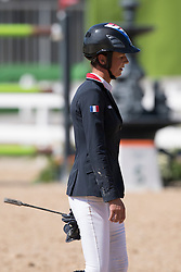 Leprevost Penelope, FRA, Flora de Mariposa<br /> owner of the horse of Jerome with arms in the air<br /> Olympic Games Rio 2016<br /> © Hippo Foto - Dirk Caremans<br /> 14/08/16