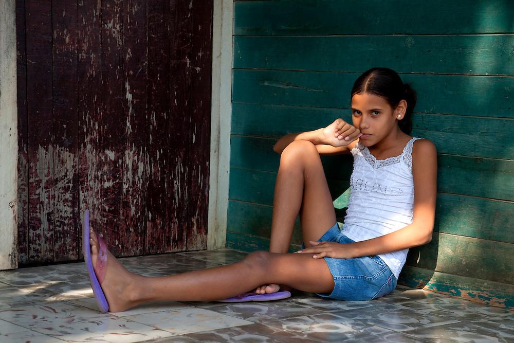 Young girl near Cueto, Holguin, Cuba.