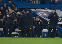 Football - 2019 / 2020 Premier League - Chelsea vs. Aston Villa<br /> <br /> Former Chelsea captain John Terry stands back as does not celebrate after his team, Aston Villa , score at Stamford Bridge <br /> <br /> COLORSPORT/DANIEL BEARHAM