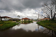 St. Bernard Parish 1 year after the Katrina disaster. Street still tend to flood easily and most of the area residents have not moved back .