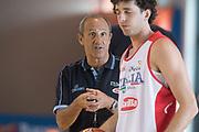 Ettore Messina, Dalla Valle<br /> Raduno Nazionale Maschile Senior<br /> Raduno Giorno 1 <br /> Folgaria 22/07/2017<br /> Foto Ciamillo-Castoria/