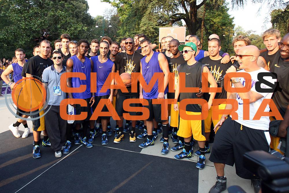 DESCRIZIONE : Milano Nike Kalibro Kobe<br /> GIOCATORE : Kobe Bryant<br /> CATEGORIA : Ritratto<br /> SQUADRA : Los Angeles Lakers<br /> EVENTO : Campionato Lega A 2011-2012<br /> GARA :  Milano Kalibro Kobe Nike <br /> DATA : 28/09/2011<br /> SPORT : Pallacanestro<br /> AUTORE : Agenzia Ciamillo-Castoria/G.Cottini<br /> Galleria : Lega Basket A 2011-2012<br /> Fotonotizia : Milano Nike Kalibro Kobe<br /> Predefinita :