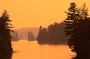 Sunset on Tea Lake<br /> ALgonquin Provincial Park<br /> Ontario<br /> Canada