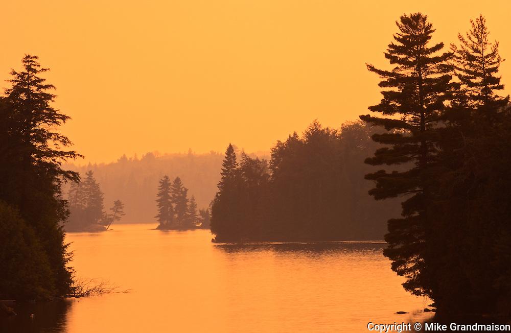 Sunset on Tea Lake<br /> ALgonquin Provincial Park<br /> Ontario<br /> Canada