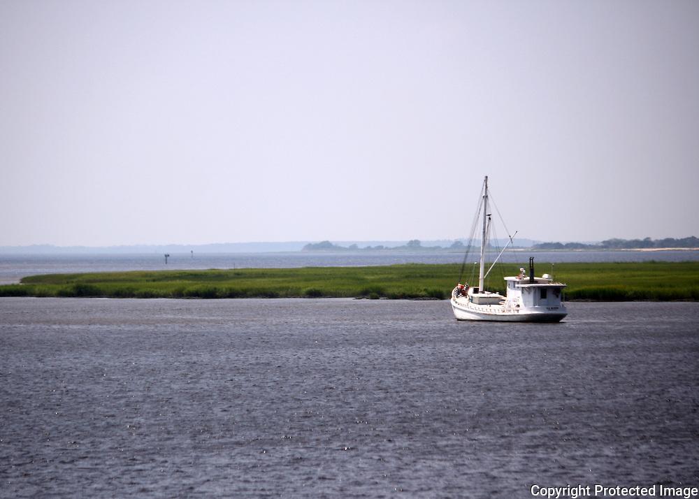 Boat on the inter coastal waterway of Jekyll Island GA