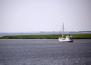 Boat on the inter coastal waterway of Jekyll Island GA