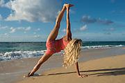 Baldwin beach workout with Luv Ninjas Shaun Simmons and yoga with Skeeter Tichnor, Maui