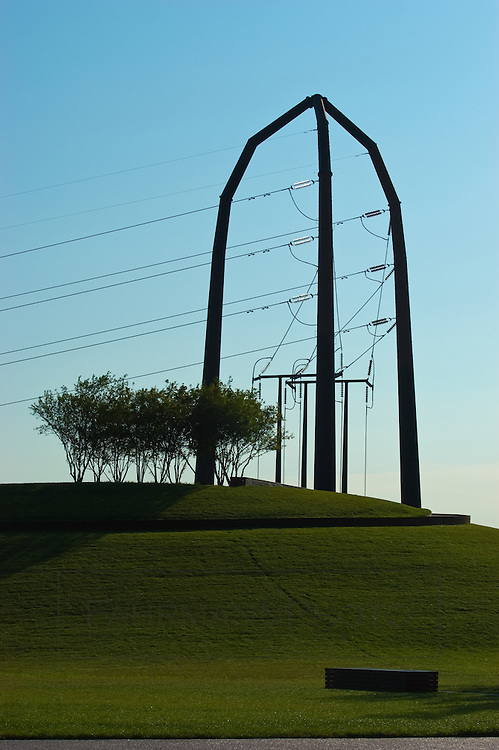 Power lines on the corner of Gold Medal Park near the Guthrie Theater