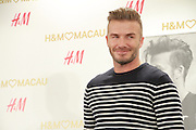 MACAU, CHINA - JUNE 13: (CHINA OUT) David Beckham attends H&M store opening ceremony on June 13, 2015 in Macau, China. <br /> ©Exclusivepix Media