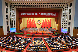 The closing meeting of the fourth session of the 12th National Committee of the Chinese People's Political Consultative Conference is held at the Great Hall of the People in Beijing, capital of China, March 14, 2016. EXPA Pictures © 2016, PhotoCredit: EXPA/ Photoshot/ Pang Xinglei<br /> <br /> *****ATTENTION - for AUT, SLO, CRO, SRB, BIH, MAZ, SUI only*****