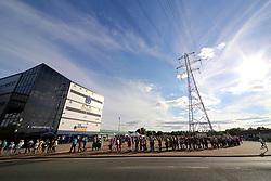 Bryan Adams fans queue outside Stadium - Mandatory by-line: Matt McNulty/JMP - 13/07/2017 - Sixways Stadium - Worcester, England