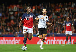 November 5, 2019, Valencia, Valencia, Spain: Daniel Parejo of Valencia and Boubakary Soumare of Losc Lille during the during the UEFA Champions League group H match between Valencia CF and Losc Lille at Estadio de Mestalla on November 5, 2019 in Valencia, Spain (Credit Image: © AFP7 via ZUMA Wire)