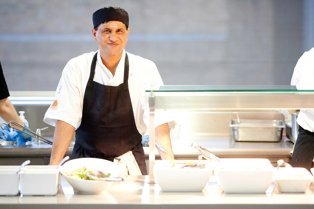 Michel Roux Jnr and Monica Galetti opening global investment bank Nomura's staff restaurant in London