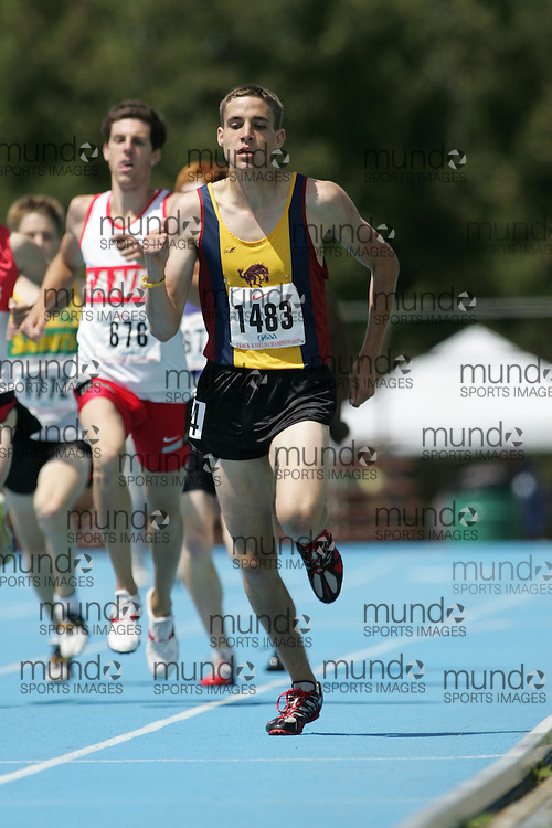 Ben Vink competing in the 800m heats at the 2007 OFSAA Ontario High School Track and Field Championships in Ottawa.