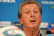 England manager Roy Hodgson looks on during the England press conference at Arena da Amazonia, Manaus, Brazil.<br /> Picture by Andrew Tobin/Focus Images Ltd +44 7710 761829<br /> 13/06/2014