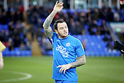 Peterborough Utd's Lee Tomlin (29) waves to the fans before the EFL Sky Bet League 1 match between Peterborough United and Rochdale at London Road, Peterborough, England on 12 January 2019.