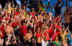 German fans during the 13th FINA World Championships Roma 2009, on July 28, 2009, at the Stadio del Nuoto,  in Foro Italico, Rome, Italy. (Photo by Vid Ponikvar / Sportida)