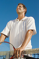 Tennis Player at Net