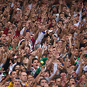 Fluminense fans support their team during the Fluminense  V Internacional, Futebol Brasileirao  Campeonato Brasileiro Serie-A 2010 League match at the Jornalista Mário Filho Stadium, Rio de Janeiro,  Brazil. 15th August 2010. Photo Tim Clayton.