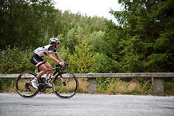 Liane Lippert (GER) tries to bridge the gap to the escape on the categorised climb at Ladies Tour of Norway 2018 Stage 3. A 154 km road race from Svinesund to Halden, Norway on August 19, 2018. Photo by Sean Robinson/velofocus.com