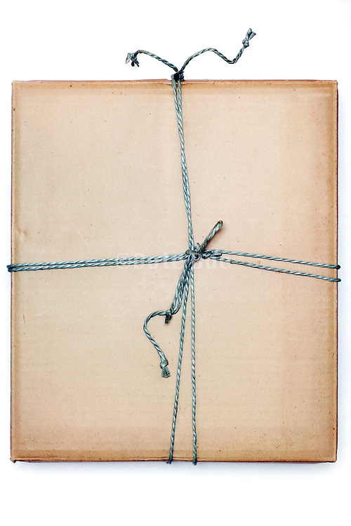 a with rope wrapped up carton box