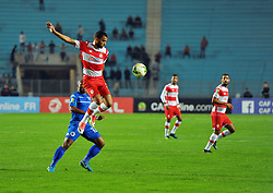 October 22, 2017 - Rades, Tunisia - Ibrahim Chenihi (R)of CA  in action during the Semi-final return of the CAF Cup between Club Africain (CA) and Supersport United FC of South Africa at the stadium of Rades  in Tunis..Club Africain lost (1-3) against the South African Super Sport Utd who will face TP Mazembe in the final. (Credit Image: © Chokri Mahjoub via ZUMA Wire)