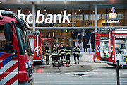 Voor de vierde keer is er brand uitgebroken in het nieuwe hoofdkantoor van de Rabobank aan de Croeselaan in Utrecht. De brandweer rukte met veel wagens uit.<br /> <br /> For the fourth time the new headquarters of the Rabobank had been on fire.