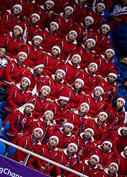 20-02-2018 KOR: Olympic Games day 11, PyeongChang<br /> Noord-Koreaanse cheerleaders zingen bij het shorttrack