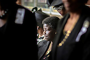 CHARLESTON, SC - JUNE 30, 2015: Dorothy Jenkins, a member of Emanual A.M.E. Church, attends a service, Tuesday June 30, 2015 at St. Luke A.M.E. Church for Rev. Daniel Lee Simmons Sr., in Charleston, S.C.  Simmons was among nine people killed in the shooting in Charleston on June 17. CREDIT: Stephen B. Morton for The New York Times