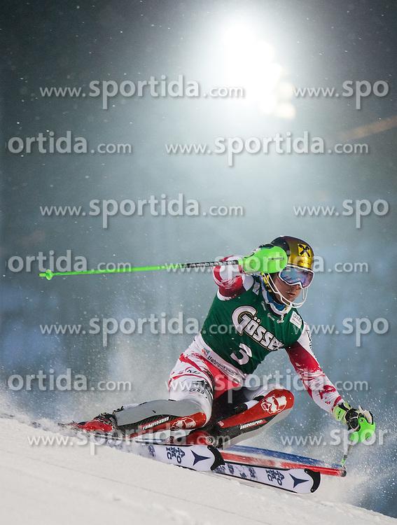 23.01.2015, Ganslernhang, Kitzbuehel, AUT, FIS Ski Weltcup, Supercombi Slalom, Herren, im Bild Marcel Hirscher (AUT, 2. Platz) // 2nd placed Marcel Hirscher of Austria in action during the men's Super Combined Slalom of Kitzbuehel FIS Ski Alpine World Cup at the Ganslernhang Course in Kitzbuehel, Austria on 2015/01/23. EXPA Pictures © 2015, PhotoCredit: EXPA/ Johann Groder
