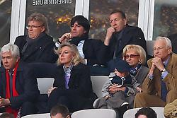 17.04.2011, Allianz Arena, Muenchen, GER, 1.FBL, FC Bayern Muenchen vs Bayer 04 Leverkusen, im Bild Jogi loew und Dr. Edmund Stoiber (bayer. Ministerpr?§sident a.D.) mit frau , EXPA Pictures © 2011, PhotoCredit: EXPA/ nph/  Straubmeier       ****** out of GER / SWE / CRO  / BEL ******