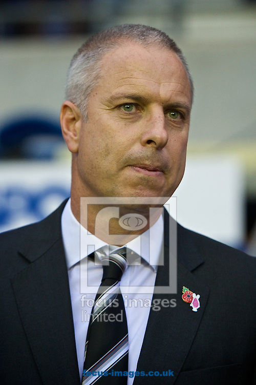 Fulham manager Kit Symons prepares to take charge of his first game since becoming the new manager of Fulham pictured ahead of the Sky Bet Championship match at the DW Stadium, Wigan<br /> Picture by Ian Wadkins/Focus Images Ltd +44 7877 568959<br /> 01/11/2014