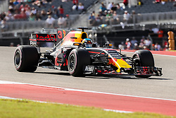 October 21, 2017 - Austin, Texas, U.S - Red Bull Racing driver Daniel Ricciardo (3) of Australia in action during the final practice before the Formula 1 United States Grand Prix race at the Circuit of the Americas race track in Austin,Texas. (Credit Image: © Dan Wozniak via ZUMA Wire)