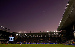 LIVERPOOL, ENGLAND - Monday, January 2, 2017: The moon and Venus shines down on Everton's Goodison Park during the FA Premier League match against Southampton at Goodison Park. (Pic by Gavin Trafford/Propaganda)