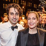 NLD/Amsterdam/20160311 - Inloop Boekenbal 2016, Jesse Klaver en partner