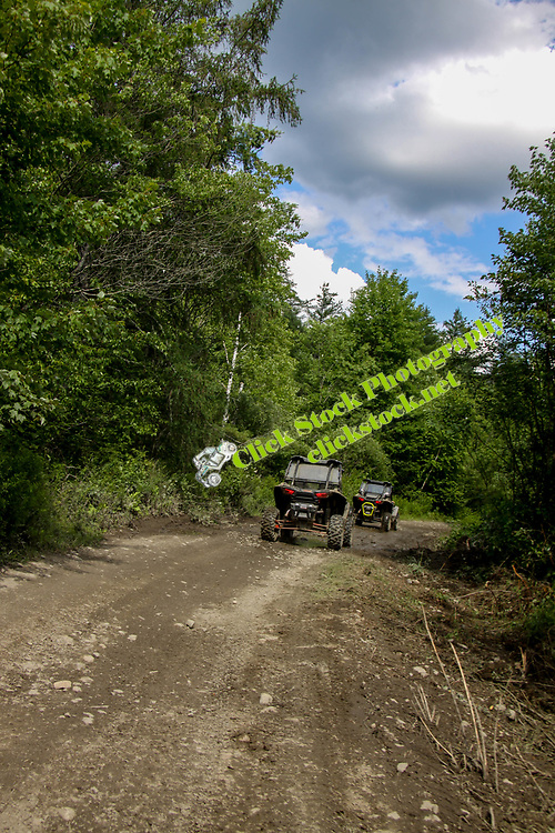 2 Polaris Rzr 1000's on trail in NH, NH, New Hampshire, New England, Polaris, Rzr, Polaris Rzr 1000, atv, utv, sxs, ohrv, orv, trail riding, hobby, adventure, sports, therapy, Click Stock Photography