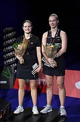 DK:<br /> 20190209, &Aring;rhus, Danmark:<br /> Badminton Danmark FZ Forza/RSL DM 2019. <br /> Dame Double: Alexandra B&oslash;je og Sara Lundgaard vs. Claudia Paredes og Julie Finne Ipsen. S&oslash;lvvindere Alexandra B&oslash;je og Sara Lundgaard<br /> Foto: Lars M&oslash;ller<br /> UK: <br /> 20190209, Aarhus, Denmark:<br /> Badminton Danmark FZ Forza/RSL DM 2019.<br /> Dame Double: Alexandra B&oslash;je og Sara Lundgaard vs. Claudia Paredes og Julie Finne Ipsen. S&oslash;lvvindere Alexandra B&oslash;je og Sara Lundgaard<br /> Photo: Lars Moeller