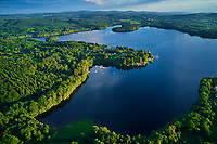 France, Nièvre (58), parc naturel régional du Morvan, le lac des Settons (vue aérienne) // France, Burgundy, Nièvre (58), Morvan park, Settons lake