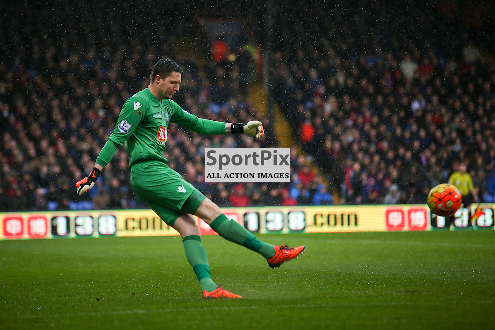 Wayne Hennessey (GK) of Crystal Palace During Crystal Palace vs Chelsea Sunday 3rd January 2016