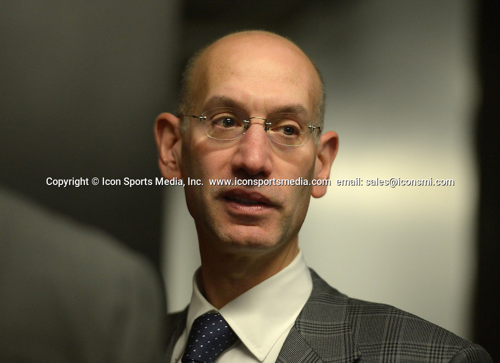 April 27, 2014 - Oakland, CA, USA - NBA commissioner Adam Silver attends Game 4 of the NBA Western Conference quarterfinals between the Golden State Warriors and the Los Angeles Clippers at Oracle Arena in Oakland, Calif., Sunday, April 27, 2014. The Warriors defeated the Clippers, 118-97