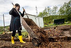 Sabina Carman alias Mami na vrtu working at her garden, on May 6th, 2019, in Podutik, Ljubljana, Slovenia. Photo by Vid Ponikvar / Sportida