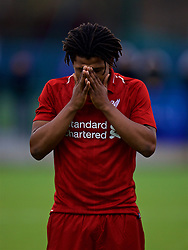 SAINT-GERMAIN-EN-LAYE, FRANCE - Wednesday, November 28, 2018: Liverpool's Yasser Larouci before the UEFA Youth League Group C match between Paris Saint-Germain Under-19's and Liverpool FC Under-19's at Stade Georges-Lefèvre. (Pic by David Rawcliffe/Propaganda)