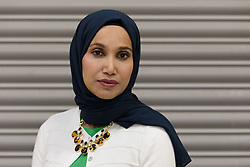 © Licensed to London News Pictures. 04/05/2018. London, UK. RABINA KHAN, mayoral candidate for the People's Alliance of Tower Hamlets (PATH) arrives at the Tower Hamlets Mayor election count, held at the Excel Centre in London. Photo credit: Vickie Flores/LNP