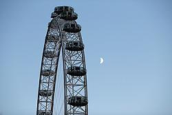 UK ENGLAND LONDON 8SEP16 - The London Eye during a serpent moon rising over the South Bank, central London.<br /> <br /> jre/Photo by Jiri Rezac<br /> <br /> © Jiri Rezac 2016