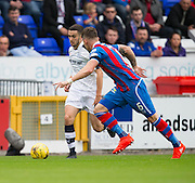 Dundee&rsquo;s Michael Duffy runs at Inverness&rsquo; Josh&nbsp;Meekings - Inverness Caledonian Thistle v Dundee in the Ladbrokes Scottish Premiership at Caledonian Stadium, Inverness. Photo: David Young<br /> <br />  - &copy; David Young - www.davidyoungphoto.co.uk - email: davidyoungphoto@gmail.com